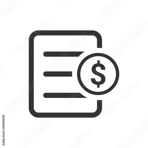 Fototapeta Financial Document Icon obraz