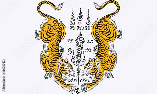 Foto thai traditional tattoo