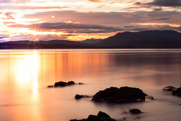 Fototapeta Wschód / zachód słońca Sunset on Quadra Island