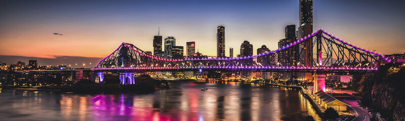 Iconic Story Bridge in Brisbane, Queensland, Australia.