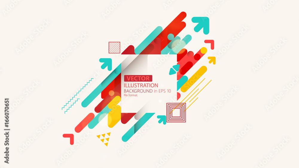 Fototapety, obrazy: Minimalistic design, creative concept, modern diagonal abstract background. Geometric element. Vector-stock illustration