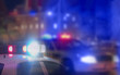 canvas print picture - Crime scene blurred law enforcement and forensic background