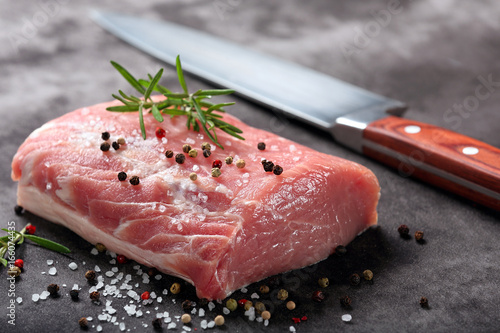 Raw pork loin with spices Wallpaper Mural