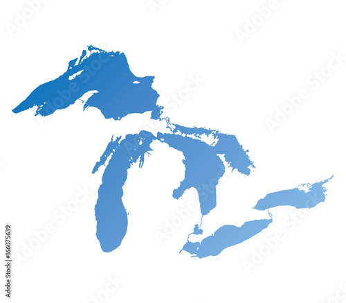 Map of Great Lakes Wall mural