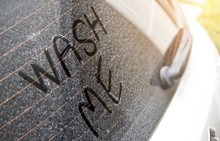 Write The Letter That Washed Me Up On A Very Dirty Car Surface.