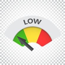 Low Level Risk Gauge Vector Ic...