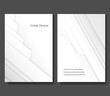 Set of Abstract Background of White Origami Paper. Minimal Vector illustration.