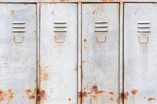 Old Rusty Metal Lockers
