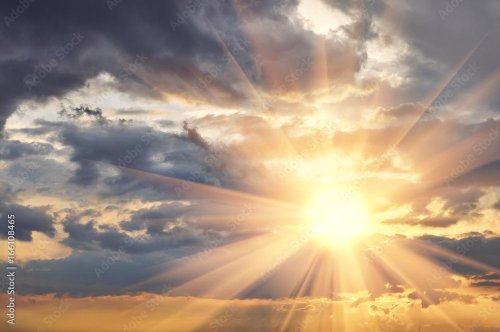 Fototapeta Cloud the evening sky at sunset