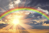 Fototapeta Rainbow - Rainbow in the beautiful sky