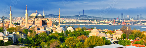 Poster de jardin Turquie Hagia Sophia museum (Ayasofya Muzesi) in Istanbul, Turkey