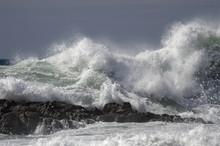 Wave Breaking Over Rocks