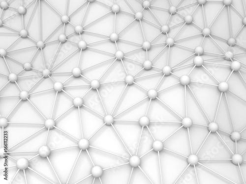 Zdjęcie XXL Streszczenie białe chaotyczne kule cząstek tło