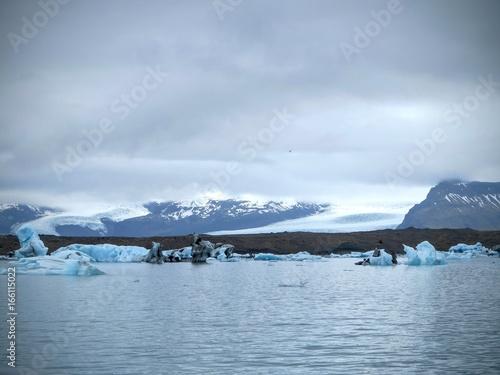 Fotobehang Gletsjers Iceland glacier lagoon