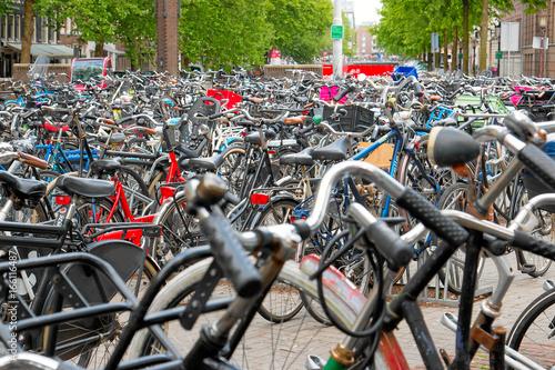 Photo  Fahrradparkplatz in Amsterdem
