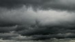 Dramatic rainy clouds timelapse, closeup view
