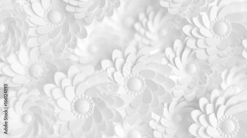 piekny-elegancki-papierowy-kwiatek-w-stylu-recznie-robionym-na-bialej-scianie-3d-ilustracja-3d-rendering