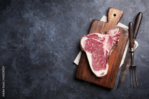 Fotografering  T-bone steak