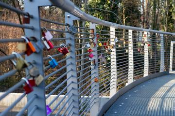 romantic padlock
