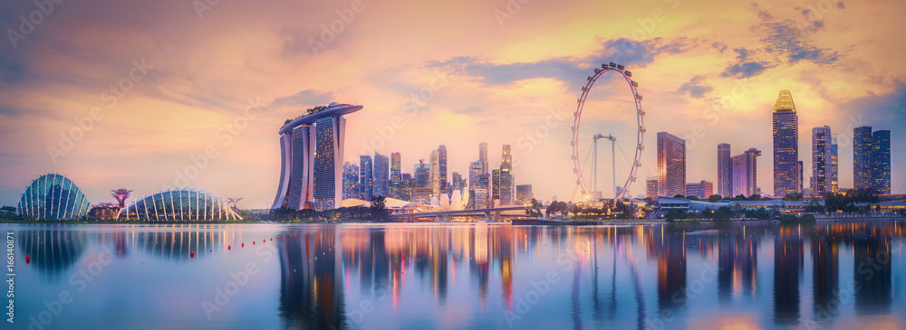 Fototapeta Singapore skyline background