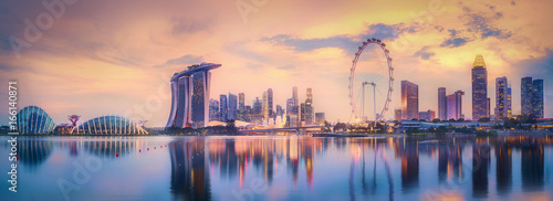 Singapore skyline background Wallpaper Mural