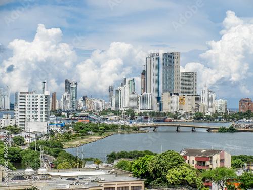 Canvas Prints Kuala Lumpur Skyline of Cartagena, Colombia, Central America