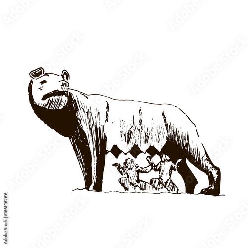 Capitoline Wolf Slika na platnu