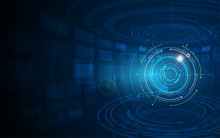 Abstract Futuristic Circle Sci Fi Technology Innovation Concept  Background