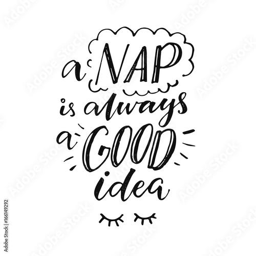 A nap is always a good idea Tablou Canvas