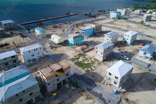 Homes on stilts under construction in the Florida Keys Fototapeta