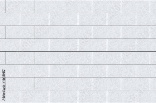 Canvas Print 3d rendering. white cement brick blocks wall background