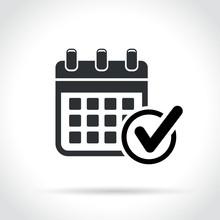 Calendar With Check Mark Icon