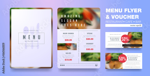 Menu Design Template With Clean DesignRestaurant Cafe Organic Food