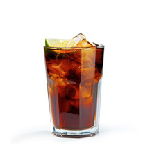 Whiskey Cola In The Glass With...