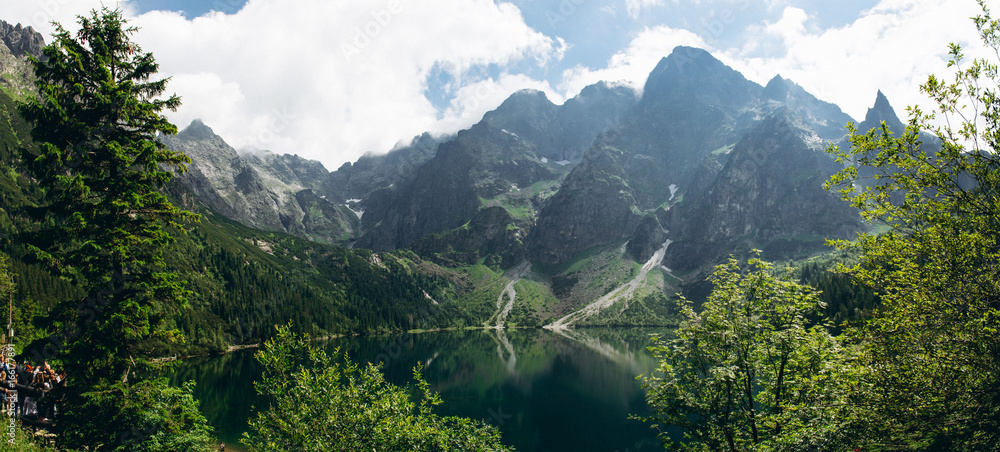 Fototapety, obrazy: Beautiful panoramic view of mountain lake Morskie oko