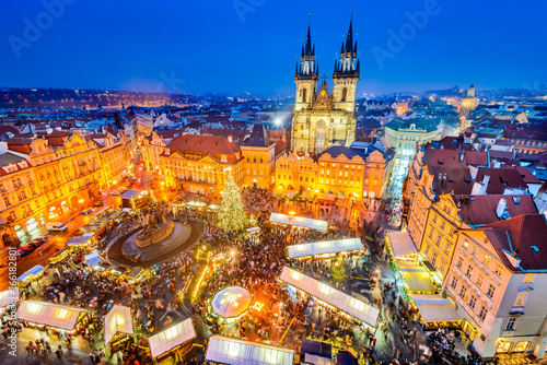 Obraz Prague, Czech Republic - Christmas Market - fototapety do salonu