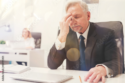 Fotografie, Tablou Overwhelmed upset businessman feeling stressed
