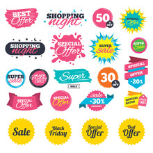 Sale Shopping Banners. Sale Ic...