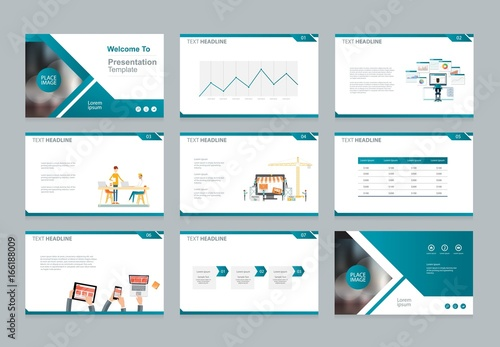 Layout Design Template For Business Presentation , Brochure Page , And Annual Report Page With