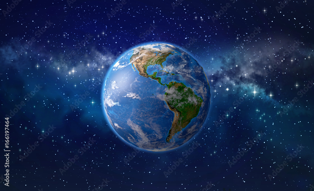 Fototapety, obrazy: Planet earth in outer space
