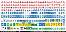 More Than 250 Road Signs. Coll...