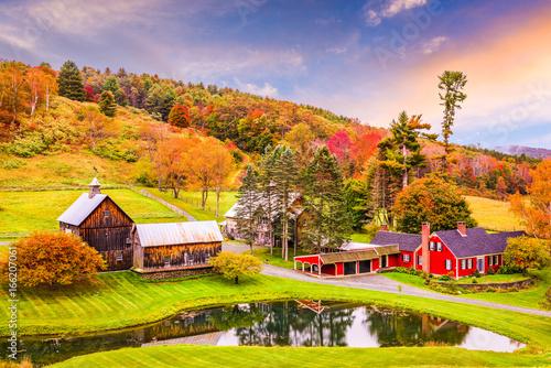 Aluminium Prints Autumn Rural Autumn Vermont