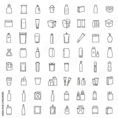 Fotografie, Obraz  Bottle, packaging collection - vector