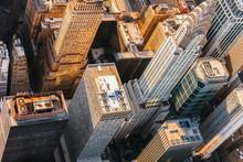Aerial View Of Midtown Manhatt...