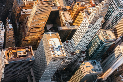 In de dag Luchtfoto Aerial view of Midtown Manhattan, NY with the Chrysler building
