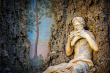 Villa Aldobrandini In Frascati. Detail Of The Water Theater (Polyphemus), Rome. Italy.jpg