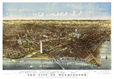 Washington Old aerial view from the Potomac. Currier & Yves, New York, 1892 - 166228265