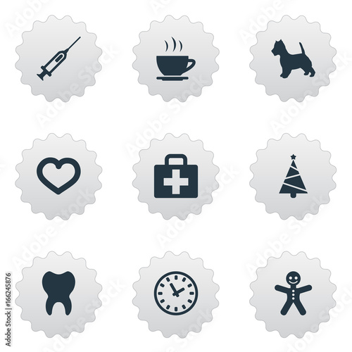 Vector Illustration Set Of Simple Household Icons  Elements