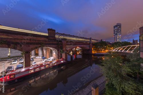 Cadres-photo bureau Canal Castlefield Basin at Night