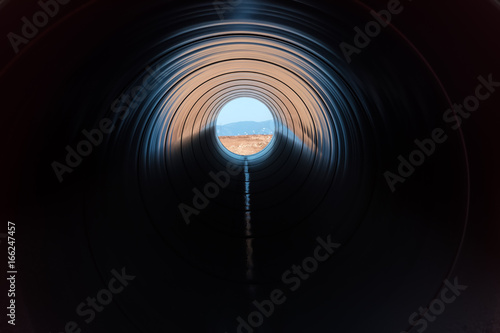 Fototapeta Construction of gas pipeline Trans Adriatic Pipeline - TAP in north Greece. The pipeline starts from the Caspian sea and reaches the coast of southern Italy obraz